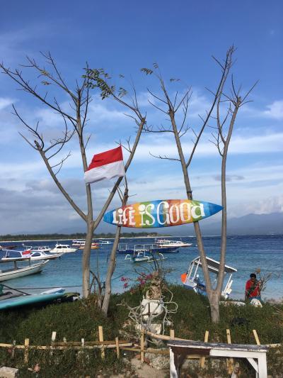 【ロンボク地震被災】NAMY家の夏休み2018 PART1 GILI TRAWANGAN 青い海に癒されるの巻