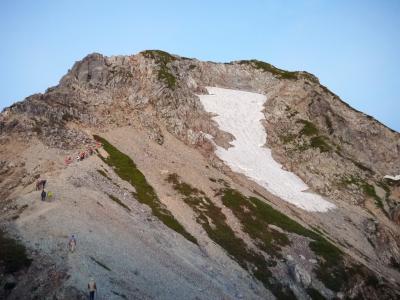 北アルプス   五 龍 岳 (2,814.0m)    (第二日)