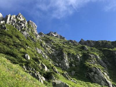 千畳敷カールと中央アルプスの最高峰を弾丸登山