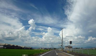 異常高温の中のお墓参りは、雲がもくもくでした~♪