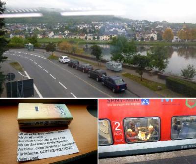 2017 秋の欧州7か国の旅(29) ルクセンブルクからモーゼル川ライン川を辿り、デュッセルドルフへ移動、車中のいろんな出来事