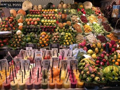 [バルセロナ・トレド・マドリッド・パリ個人旅行]① バルセロナ到着。まずはサンジュセップ市場とグエル公園の散策へ