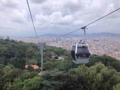 [バルセロナ・トレド・マドリッド・パリ個人旅行]⑤ ケーブルカー、ゴンドラ、ロープウェイにのってモンジュイックの丘を散策する