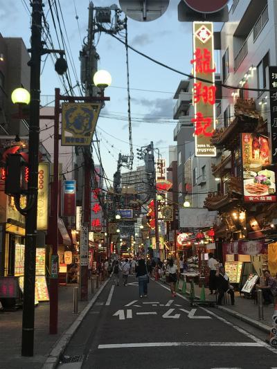 夏の夕暮れ中華街、海員閣経由で藤沢発祥の店清香園でおひとりコース編