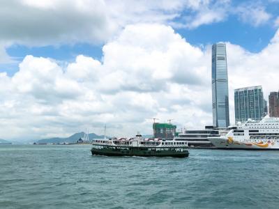 香港航空ビジネスクラスで!台風接近の香港で乗り継ぎバンコクへ①