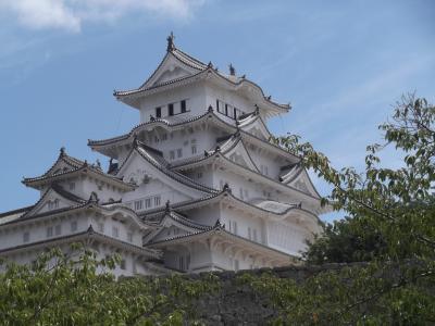 青春18キップで4城巡り③姫路城の白さは徐々に薄れ始めている
