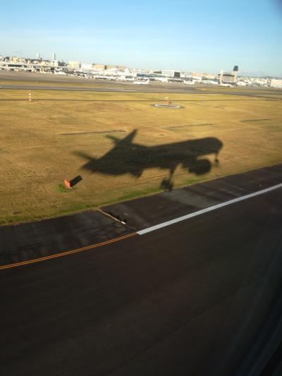 ただ今、JALで移動中(*^-^*) 第四十九弾>>>>猛暑の戻った東京から台風の近づく大阪ヘ快晴の空を移動しました!!o(^-^)o