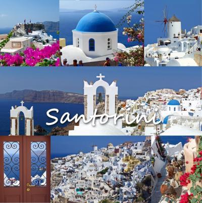 夏のギリシャ旅2サントリーニ島編 -ブルードームの絶景のイア観光、パノラマビューのワイナリーVenetsanos Winery、夕食はDa Vinci Restaurantでイタリアン、ホテルの部屋のテラスから絶景の夕日鑑賞-