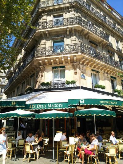 2018夏 フランス・ドイツ周遊 パリ2日目PM① サンジェルマン・デ・プレのカフェでランチ休憩