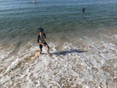 家族旅行 日帰り2018年8月(長男9歳、次男7歳)IN 琴びき浜 丹後半島