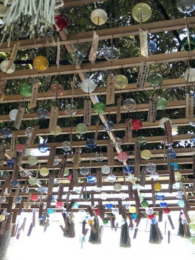 可愛い風鈴の川越氷川神社