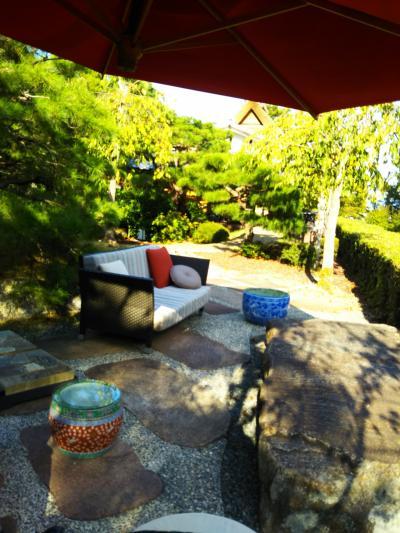 嵐山、翠嵐 お庭  露天風呂  心優しいおもてなしに感激