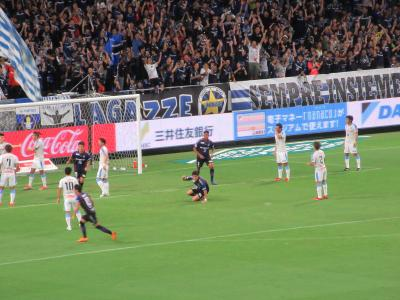 Jリーグガンバ大阪対川崎フロンターレの試合を観戦