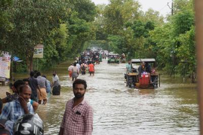 南インド ※ケララ州 アレッピー(アラップーラ)大洪水
