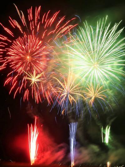 神明の花火-7 超特大スターマイン◎二尺玉あり ☆中盤のクライマックス/金麦花火も