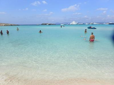 フォルメンテーラ島の遊び方 サンアントニから移動 シャワー情報も。