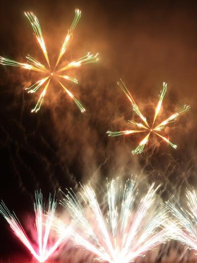 神明の花火13 20,000発打上げフィナーレ ☆花火師と交歓ライト・ありがとう!
