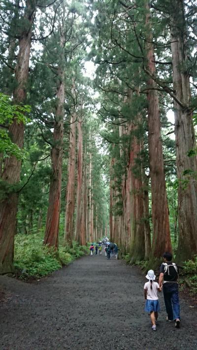 2018年お盆休み ヴィラ北軽井沢エルウィングに宿泊何故か戸隠神社観光