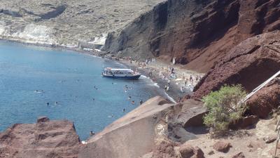 再びギリシャ 個人手配 4日目 サントリーニ島