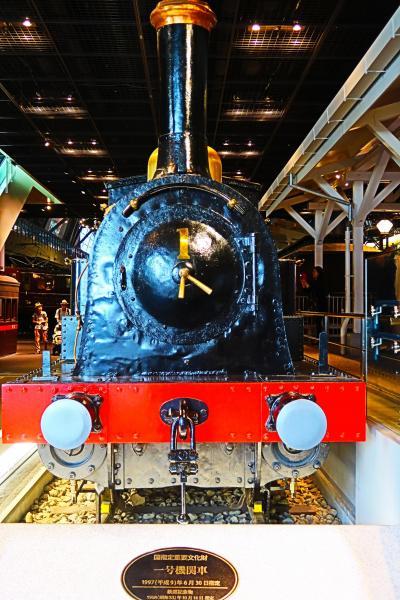 鉄道博物館-2 黎明期の蒸気機関車から展示  ☆1号機関車・弁慶号機関車・開拓使号客車