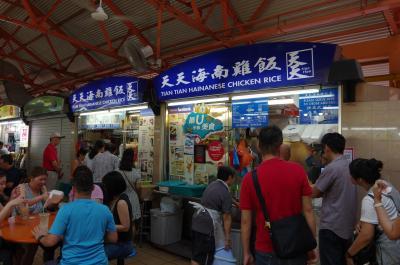 シンガポール旅行2018 1-3 ホーカーで有名チキンライスを食べる