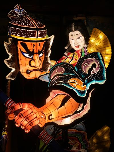 目黒-6 和のあかり展 ≪青森ねぶた祭り≫ 3流派の共同作品 ☆幻想的な竹取物語