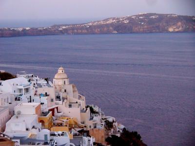 2018年 お盆休み ギリシャ へ 《3》 サントリーニ島 フィラ 早朝の 街歩き