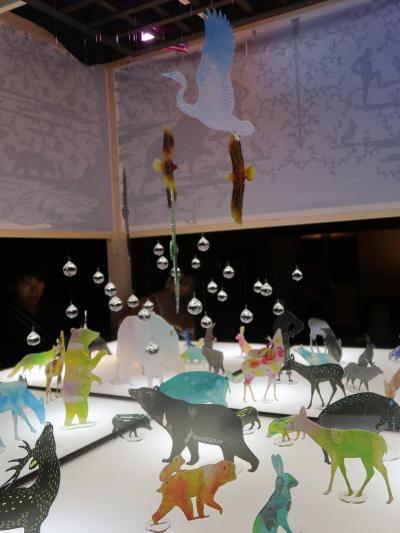 目黒-8 和のあかり展 ≪静水の間≫切り絵・七宝焼の魅惑 ☆日本武尊の物語空間に