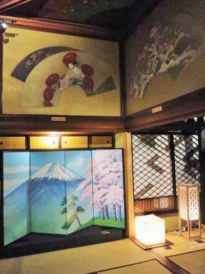 目黒10 和のあかり展 ≪清方の間≫ 銭湯絵師の富士山 ☆江戸組子・美濃和紙作品も