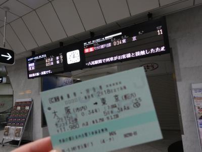 サンライズ瀬戸・出雲で東京へ&ホステル北斗星に宿泊