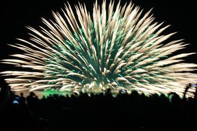 三尺玉海上自爆!!!それはそれは凄い花火でした\(^o^)/~熊野大花火大会の楽しみ方~