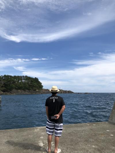 南三陸寄りながら大船渡のオッチャンに北海道の土産渡して海産物貰ったわらしべ長者旅。