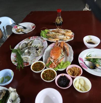 南タイ☆プラチュワップキーリーカン(1)パタヤ~420Km ここの魚貝類は安くて美味いや