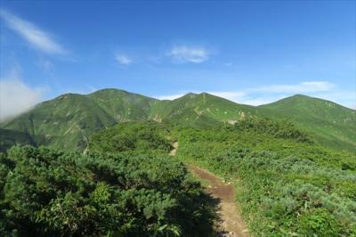 2018年08月 日本百名山52座目となる朝日岳(あさひだけ、1,870m)を登りました。