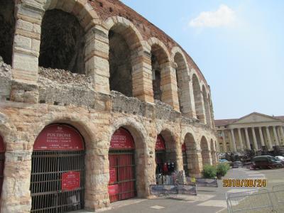 2018ヨーロッパ周遊の旅:2日目はベローナに移動