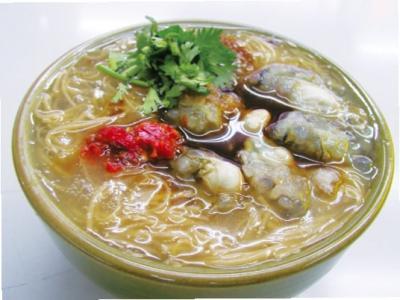 【台北グルメ】大腸麺線(ホルモン入り煮込みそうめん)