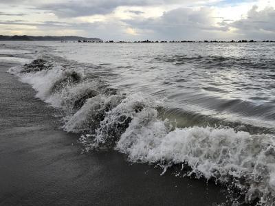 鴨川の海、空、雲~前原海水浴場~