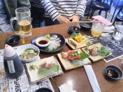 """たまには""""ベタ""""な名物店めぐり1805  阪堺電車に乗って堺の海鮮居酒屋 """"とっつあん系おかあちゃん"""" へ。仕事仲間のマダム&ムッシュ達との懇親会に出席しました。」  ~堺・大阪~"""