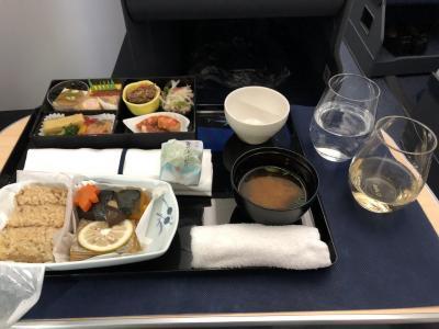 ANA B-787 ビジネスクラス 羽田発  マニラ行き NH869機内食