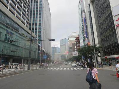 東京駅八重洲口交差点付近の風景