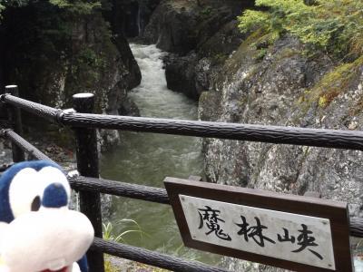 グーちゃん、雨の耶馬溪へ行く!(道の駅やまくに、カッパと魔太郎の誘惑!編)