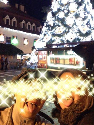 初めてのクリスマスマーケットに親子揃って若干テンションあがるw(親子旅第12弾ルーマニア・ブルガリア 02ブラショフ)