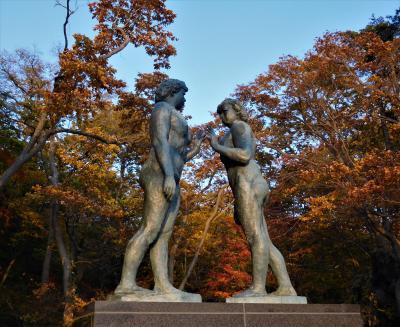 2017年10月 錦秋の東北 3日目 その2 十和田湖の乙女の像周辺散歩
