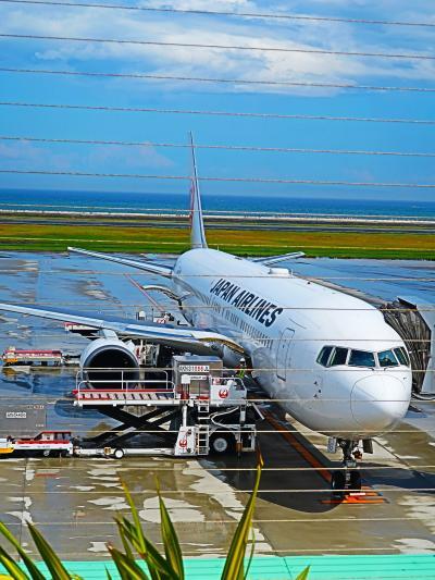 大分空港 14:35発 JAL670便 離陸順調に ☆東京(羽田)行き44 Kで