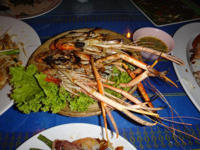 バンコクで友人と海老を食べてきました