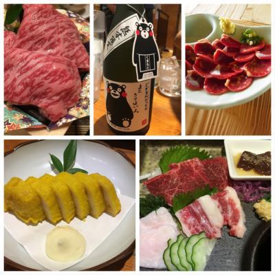 地鶏・馬刺し・辛子レンコン・焼酎。美味しいぞ熊本!
