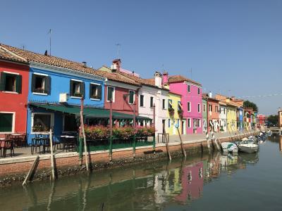 2018年 ドロミテからヴェネチアへ・・ブラーノ島~ムラーノ島巡り♪♪