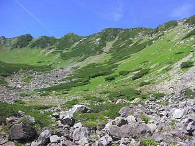 仙丈ヶ岳 小仙丈沢より沢登りで3,000m峰へ