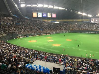三連休で札幌へ その1 野球観戦と牡蠣食べ放題