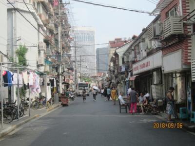 上海の下街・四牌楼路(旧県城内)・2018年